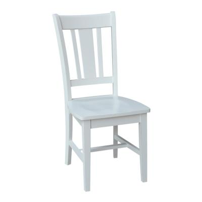 Groovy White Solid Wood Dining Chairs Kitchen Dining Room Ibusinesslaw Wood Chair Design Ideas Ibusinesslaworg