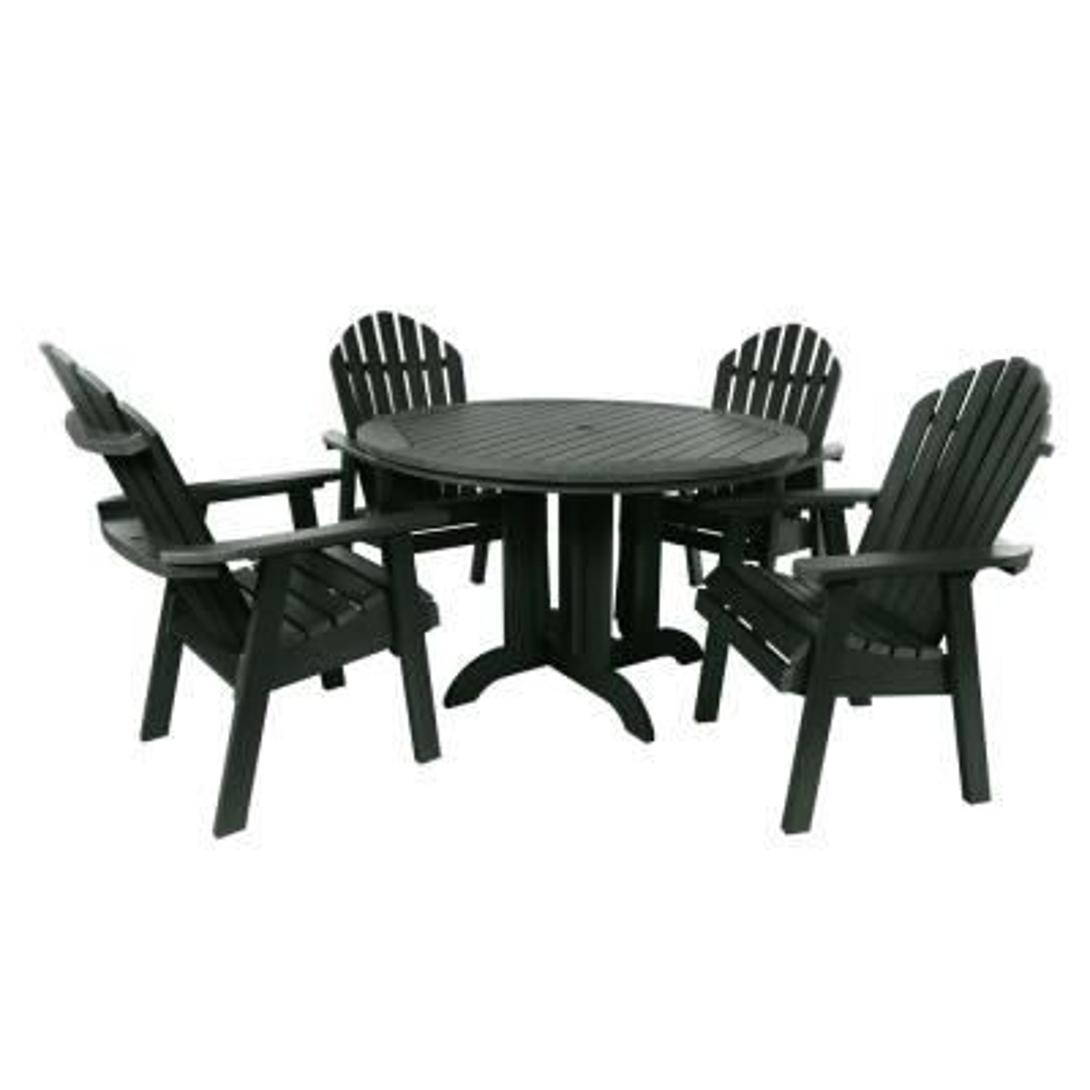 Muskoka Charleston Green 5-Piece Plastic Round Outdoor Dining Set