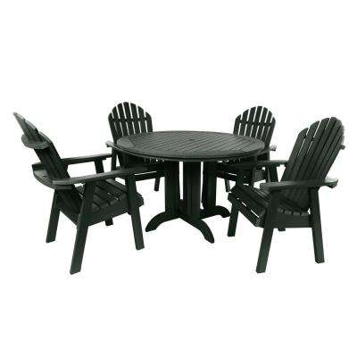 Muskoka Charleston Green 5-Piece Plastic Round Outdoor Dining Set