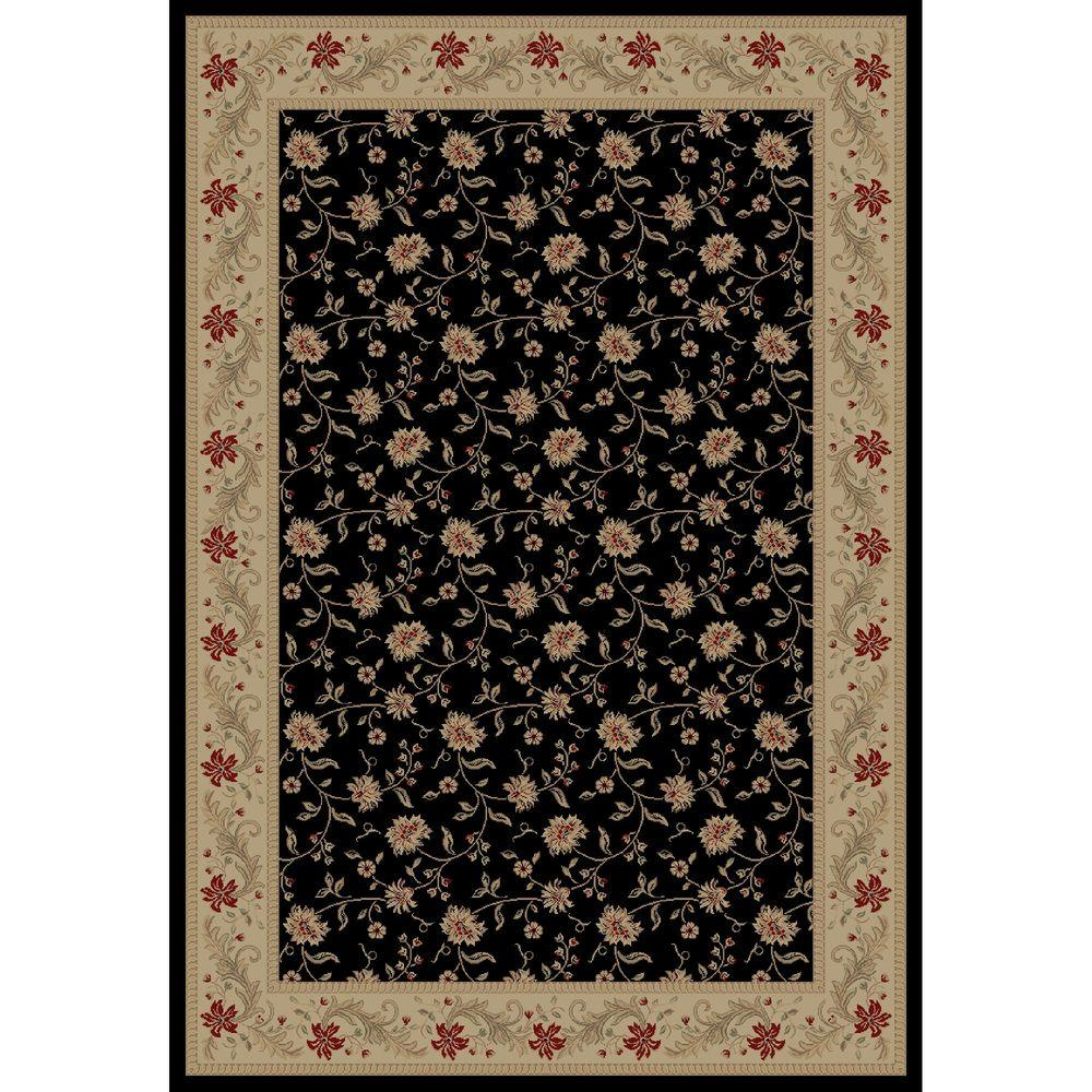 Imperial Serenity Black 7 ft. 10 in. x 10 ft. 10