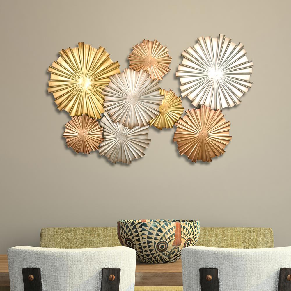 Stratton Home Decor Multi-Metallic Circles Wall Decor by Stratton Home Decor