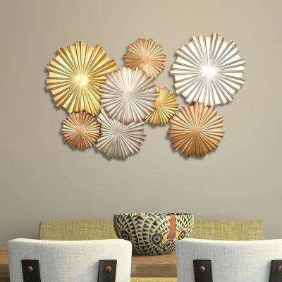 Multi Metallic Circles Wall Decor