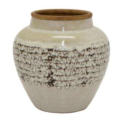 8 in. x 8 in. Ceramic Planter in White