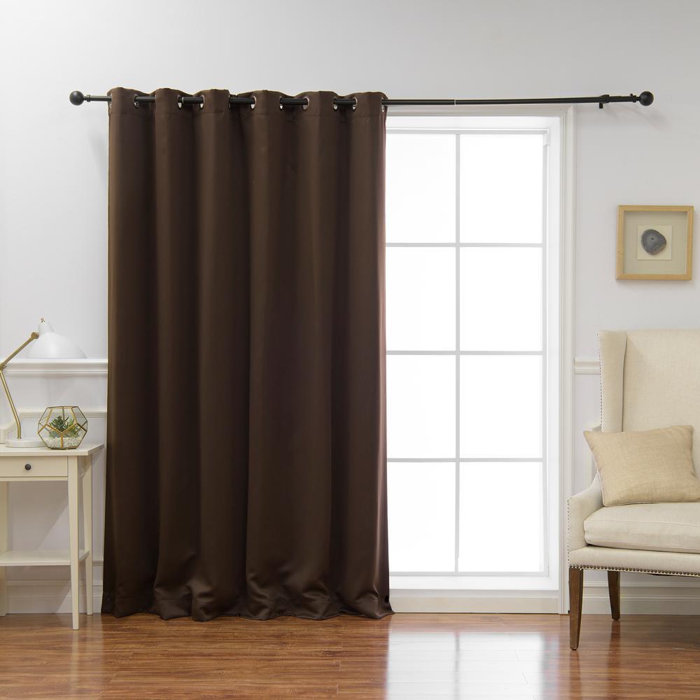 Wide Basic 80 in. W x 96 in. L Blackout Curtain in Dark Chocolate
