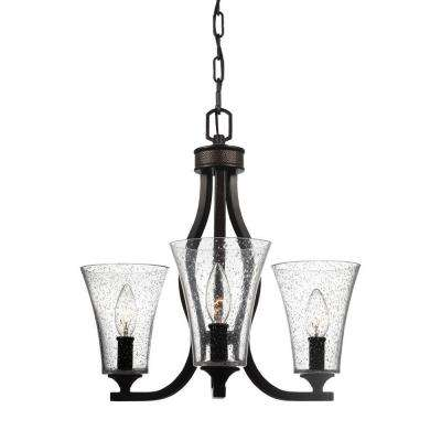 Marteau 3-Light Oil Rubbed Bronze Single Tier Chandelier Shade
