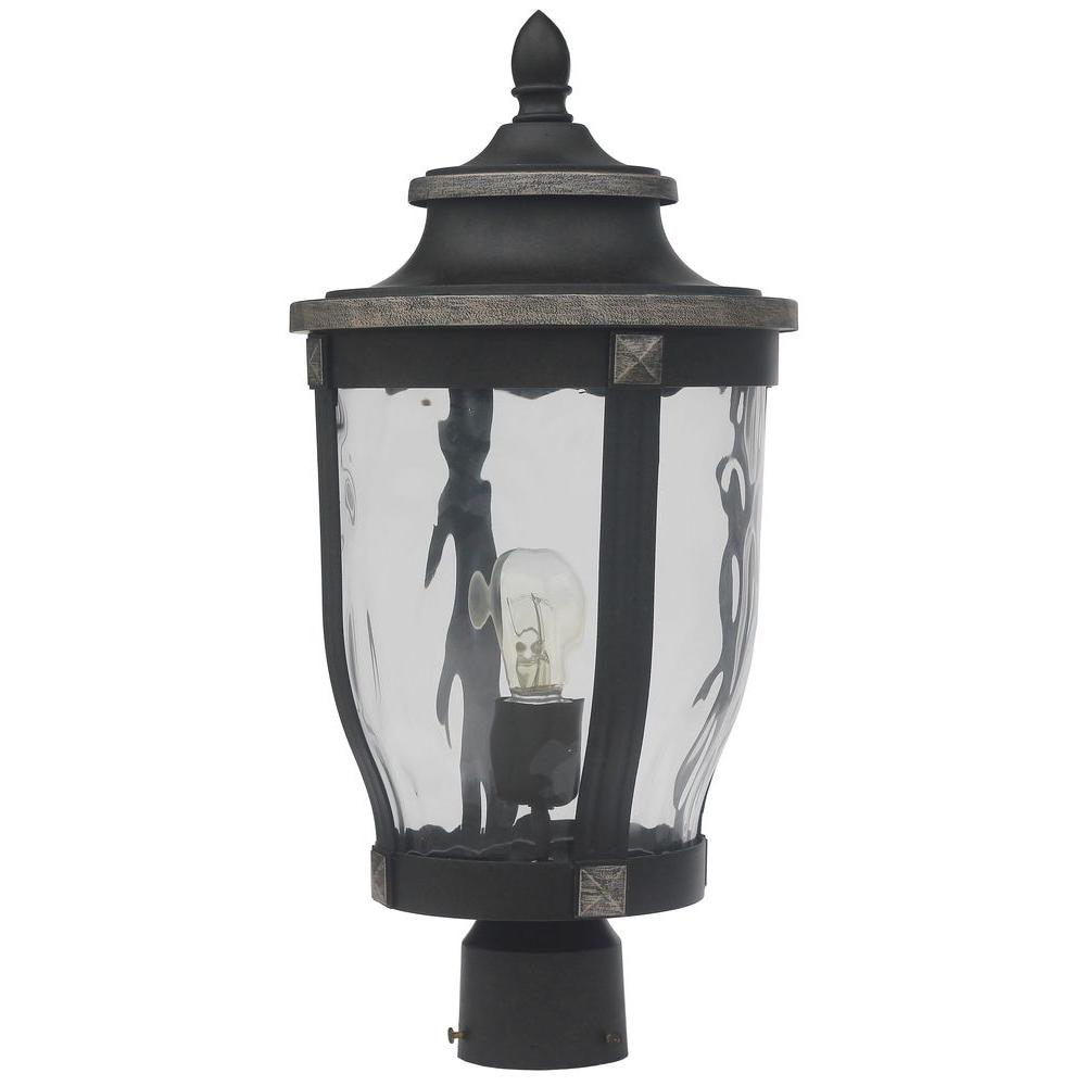 outdoor post lights black home decorators collection mccarthy 1light bronze outdoor post mount
