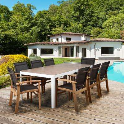 Elliot 9-Piece Teak Rectangular Outdoor Dining Set