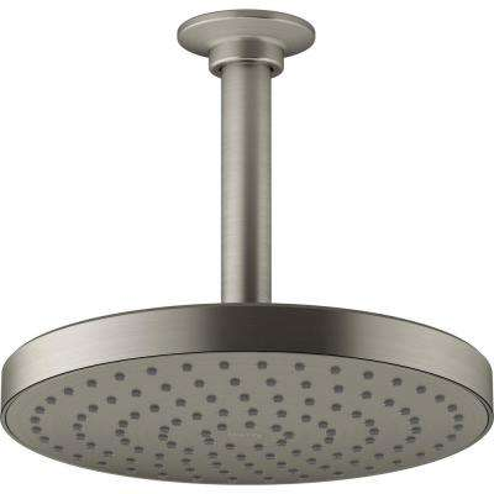 Awaken 1-Spray 7.875 in. Showerhead in Vibrant Brushed Nickel