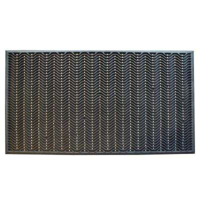 36 in. x 60 in. Commercial Rubber Scraper Mat