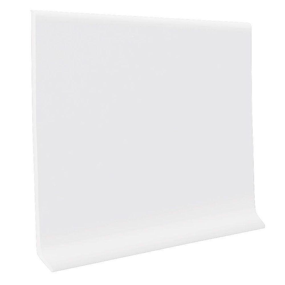 Roppe Vinyl Self Stick Snow 4 In X 0 080 In X 20 Ft