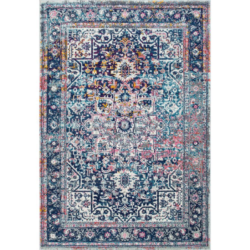 Persian Vintage Raylene Blue 10 ft. x 14 ft. Area Rug