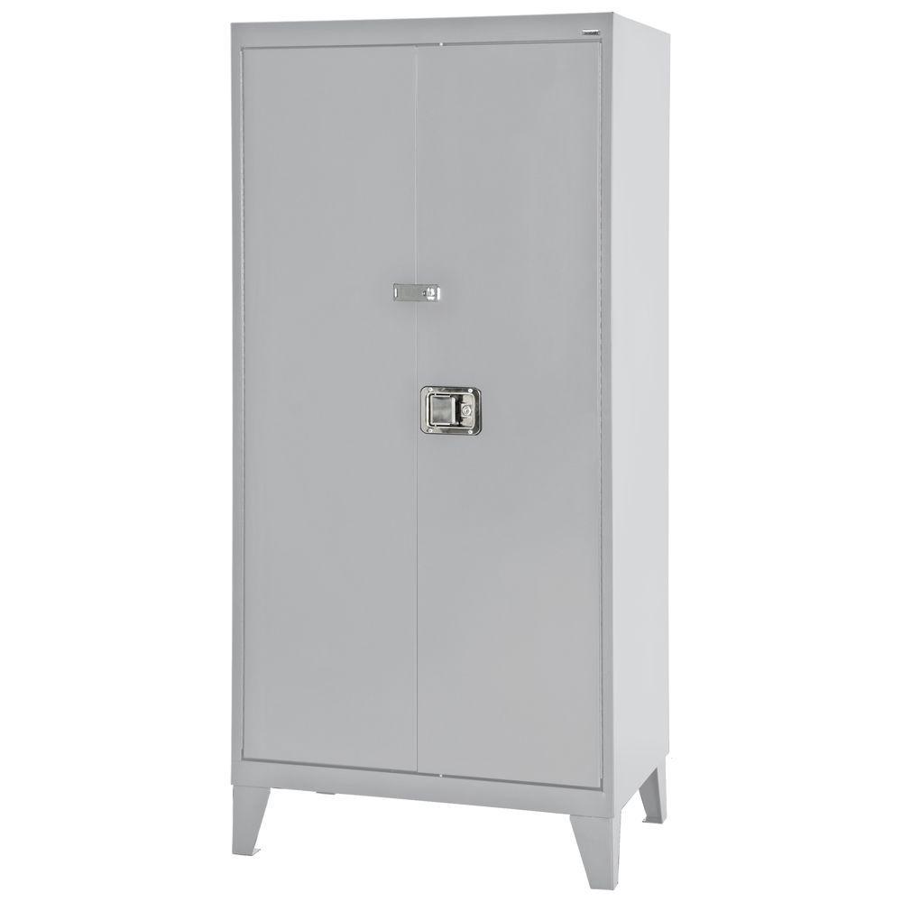 Sandusky 79 in. H x 46 in. W x 24 in. D Freestanding Steel Cabinet in Dove Grey