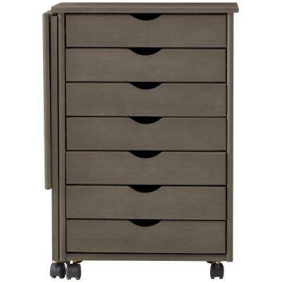Stanton 21 in. W Single Gate Leg Storage Cart in Antique Grey