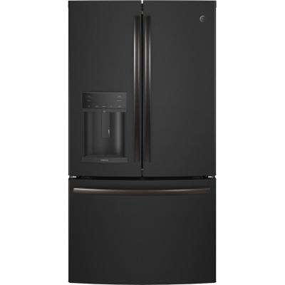 Adora 27.8 cu. ft. French Door Refrigerator with Hands Free Autofill in Black Slate, Fingerprint Resistant