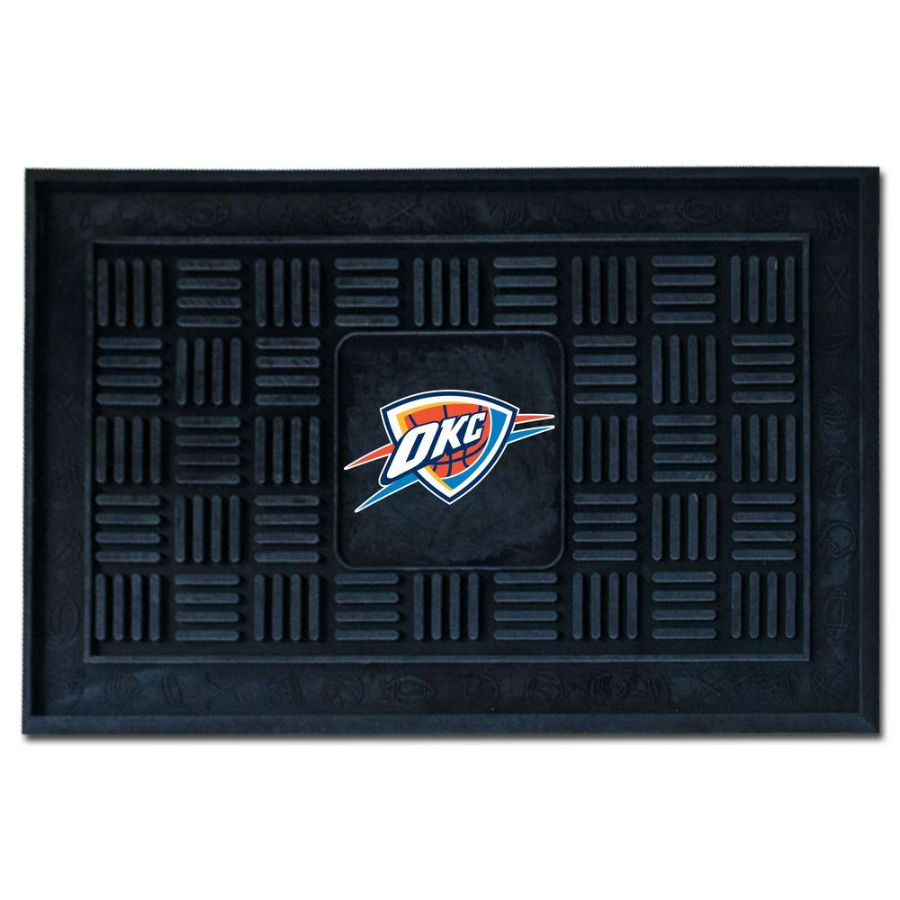 FANMATS Oklahoma City Thunder 1 ft 6 in. x 2 ft 6 in. Door Mat