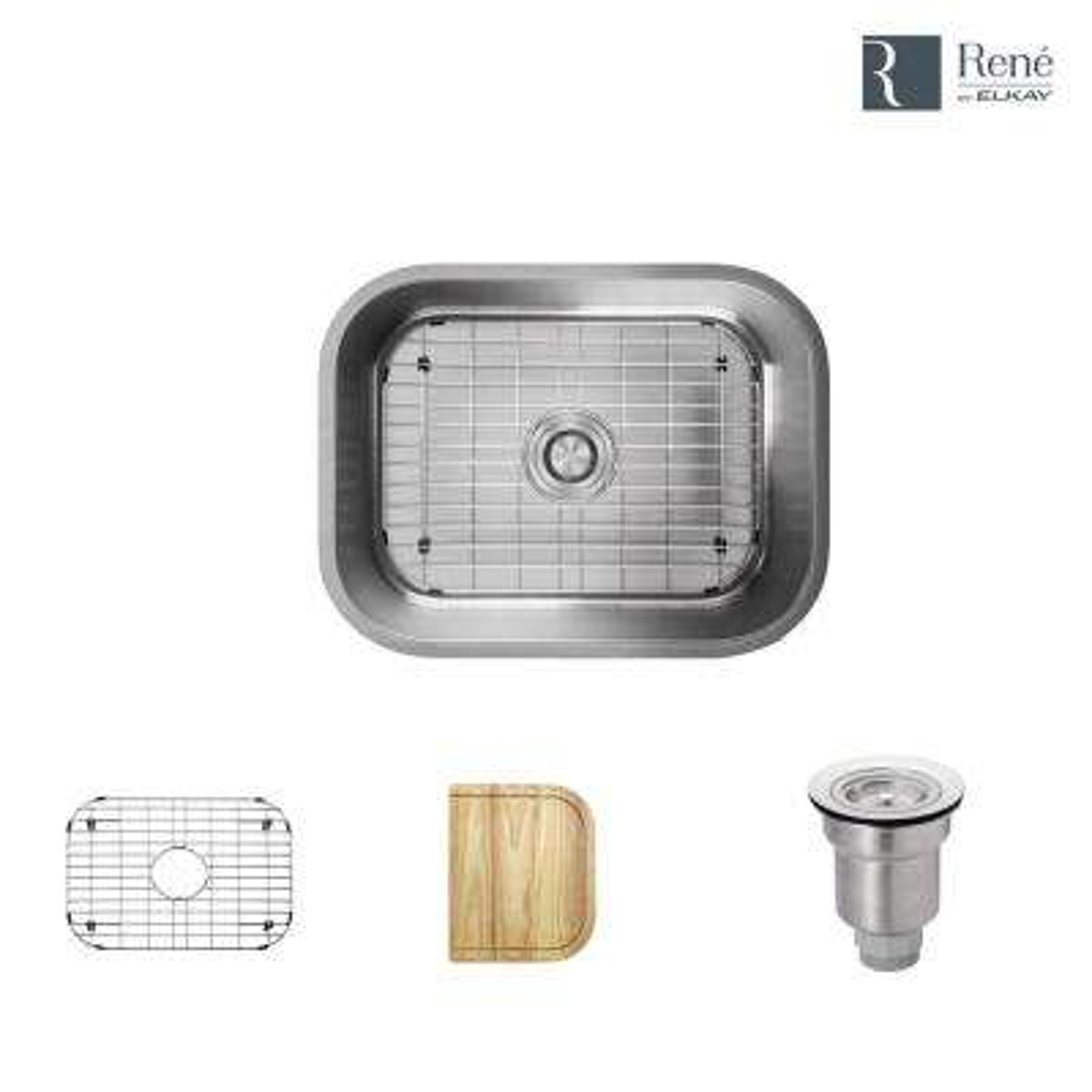 Undermount Stainless Steel 23 in. Single Bowl Kitchen Sink