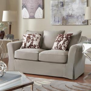HomeSullivan Sydney 1Piece Grey DownFilled Slipcovered Sofa