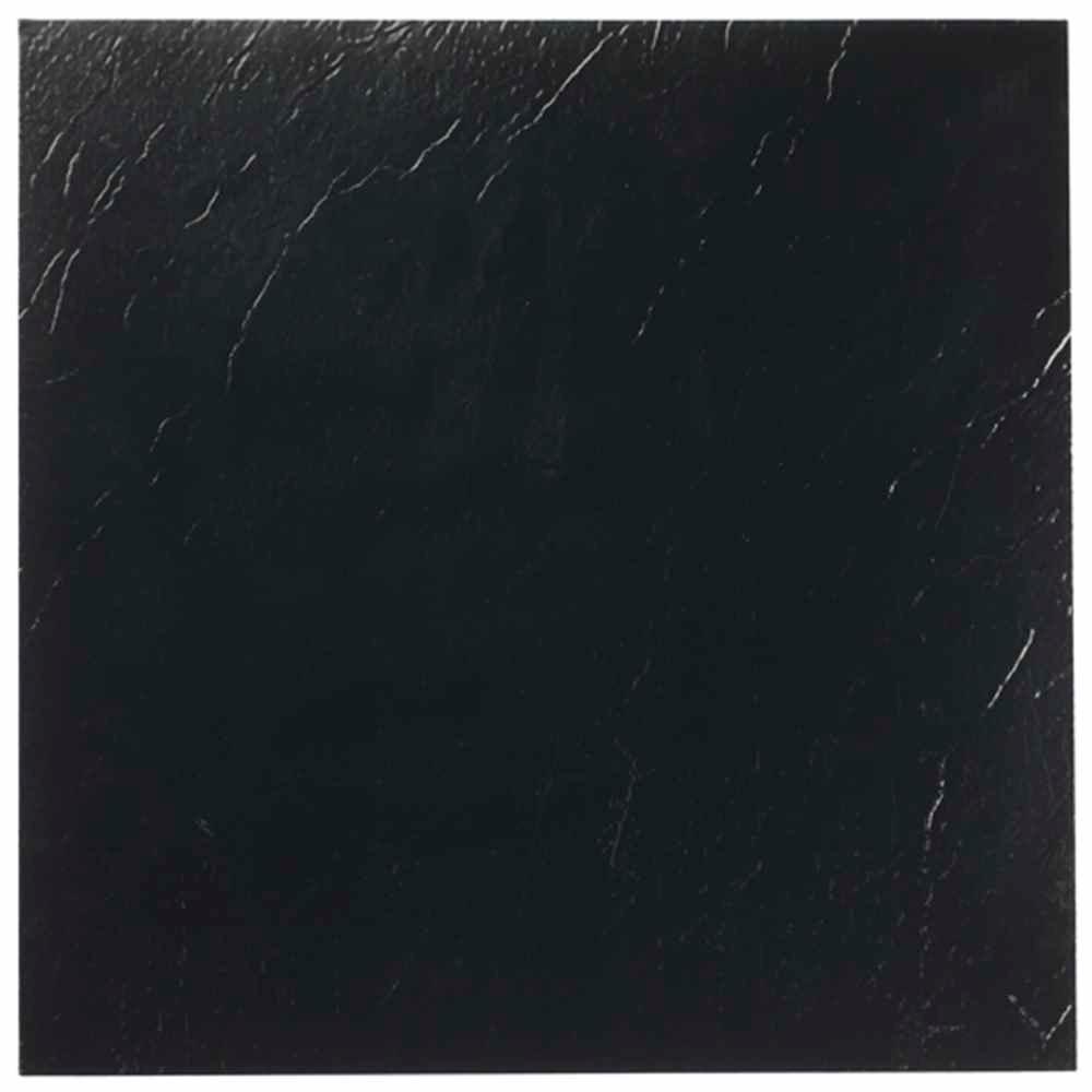 Nexus Black 12 In X L And Stick Solid Vinyl Tile