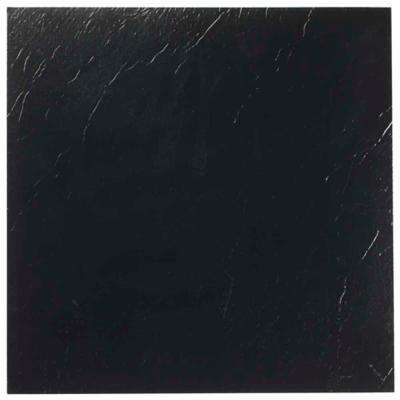 Nexus Black 12 in. x 12 in. Peel and Stick Solid Vinyl Tile (20 sq. ft./case)