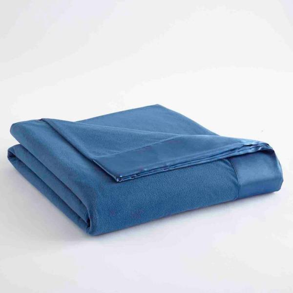 Micro Flannel Full Queen Smokey Mt Blue Year Round Polyester Sheet