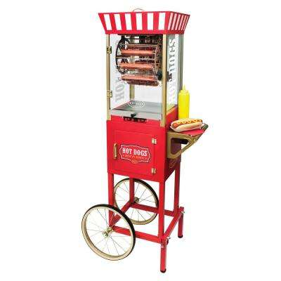 Ferris Wheel Mobile Hot Dog Roller Grill and Cart