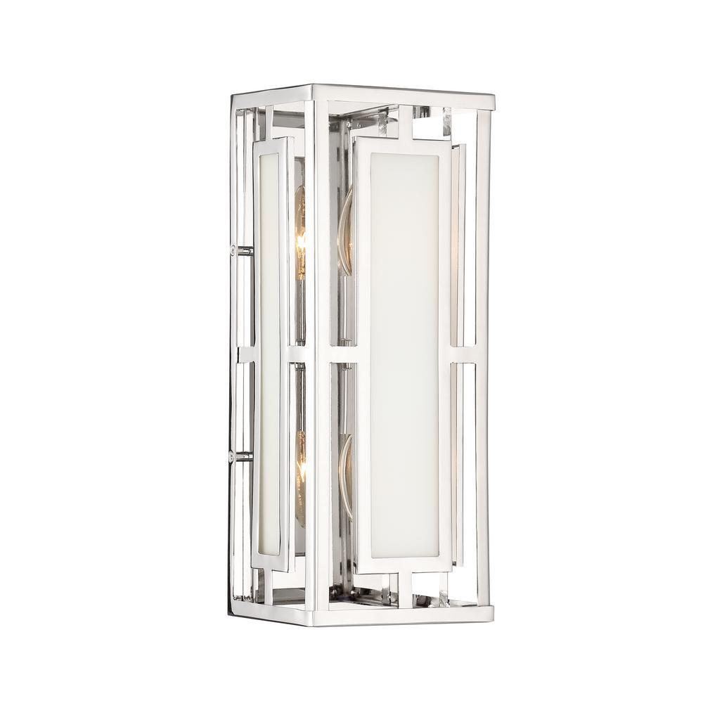 Libby Langdon Hillcrest 2-Light Polished Nickel Sconce