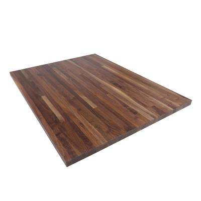 4 ft. L x 3 ft. D x 1.5 in. T Butcher Block Countertop in Finished Walnut