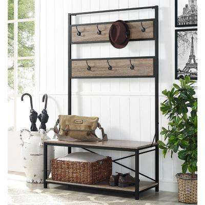 hall entryway furniture. industrial driftwood hall tree entryway furniture s