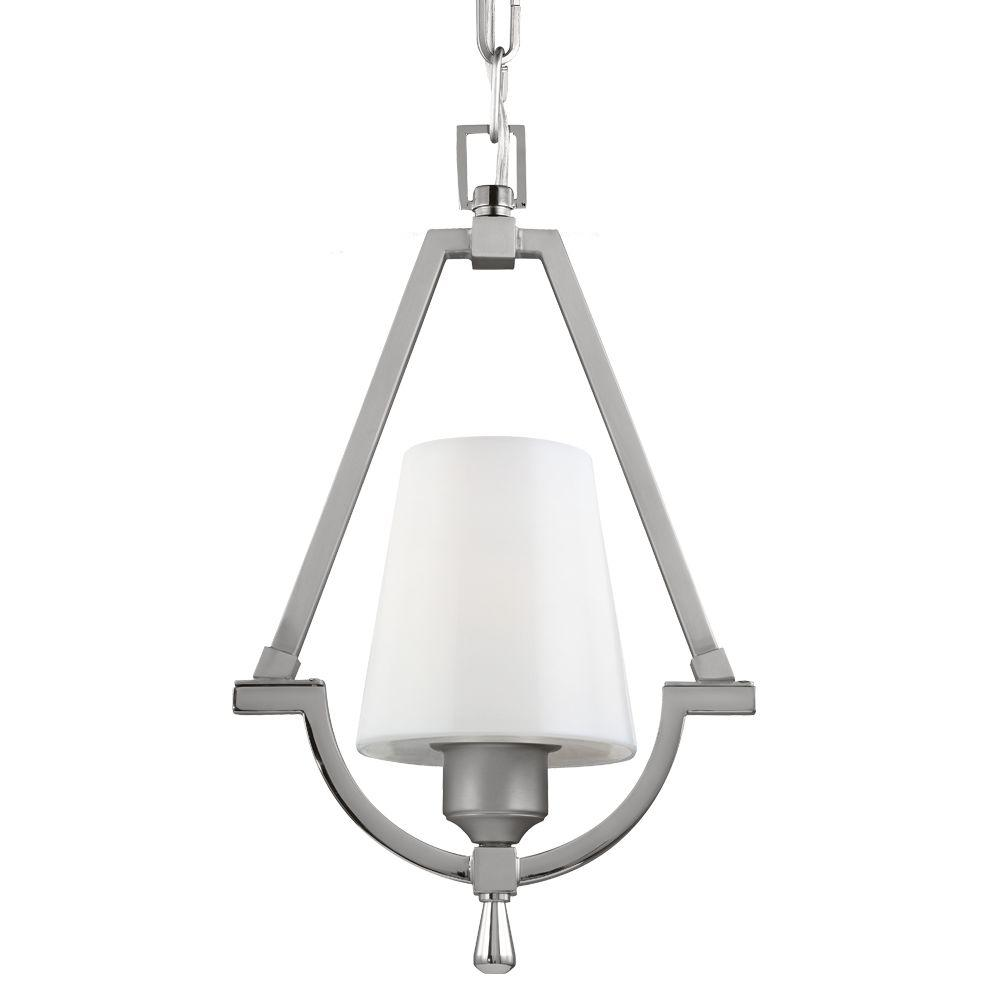 Feiss Preakness 1-Light Satin Nickel/Polished Nickel Wall Sconce