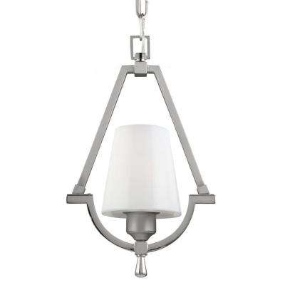Preakness 1-Light Satin Nickel/Polished Nickel Wall Sconce