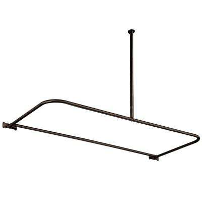 61 in. x 28 in. D Shower Rod in Oil Rubbed Bronze