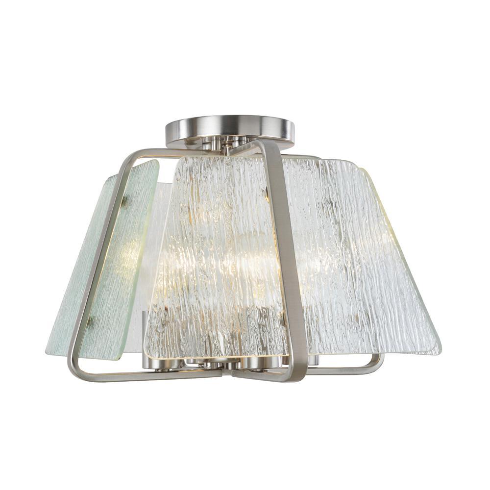 4-Light Brushed Nickel Flushmount