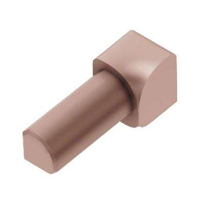 Rondec Satin Copper Anodized Aluminum 1/2 in. x 1 in. Metal 90° Inside Corner
