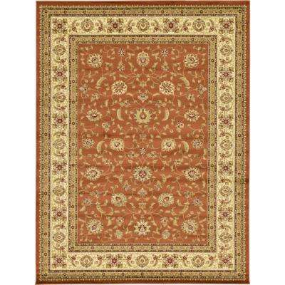 Agra Brick Red 10 ft. x 13 ft. Area Rug