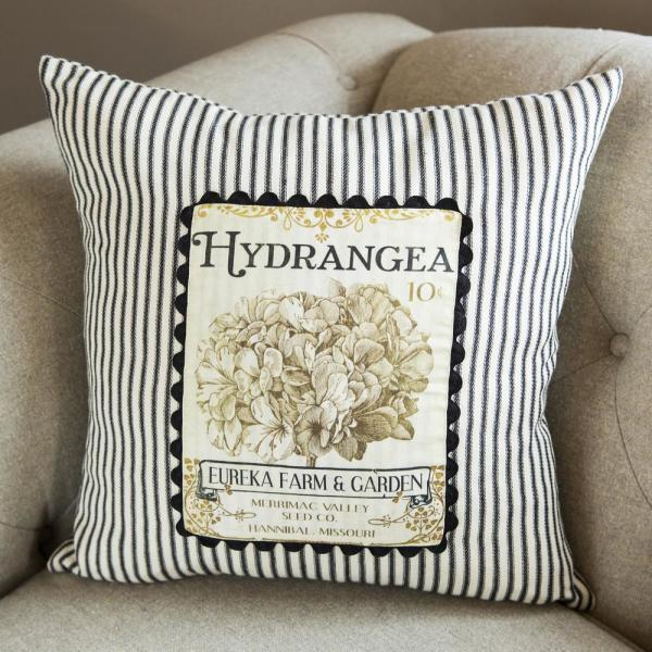 Heritage Lace Vintage Garden Black Cream Floral 18 In X 18 In Throw Pillow Cover Vg012 Pc The Home Depot