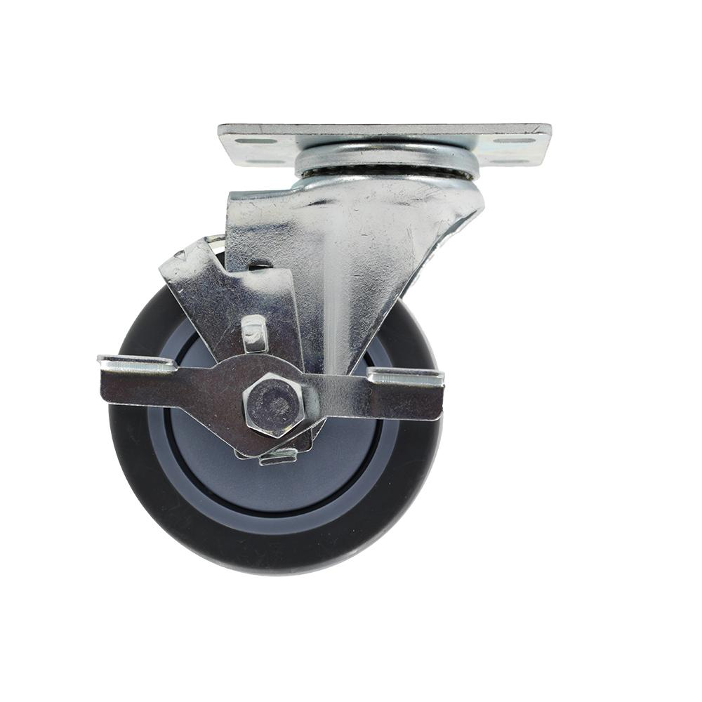 Everbilt 4 in. Medium Duty Gray TPR Swivel Plate Caster with 250 lbs. Weight Capacity