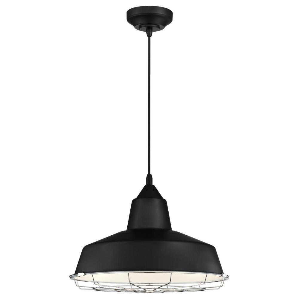 Westinghouse Academy 100-Watt Black and Chrome Integrated LED Pendant