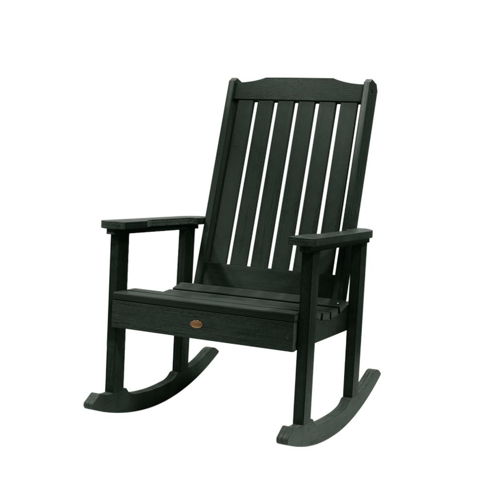 Highwood Lehigh Charleston Green Recycled Plastic Outdoor Rocking Chair