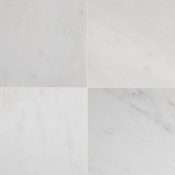 Greecian White 12 in. x 12 in. Polished Marble Floor and Wall Tile (5 sq. ft. / case)