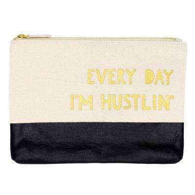 7.25 in. x 10 in. Everyday I'm Hustlin Pouch