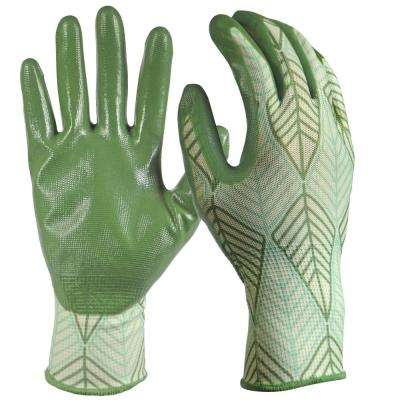 Women's Medium/Large Nitrile Coated Gloves (3-Pair)