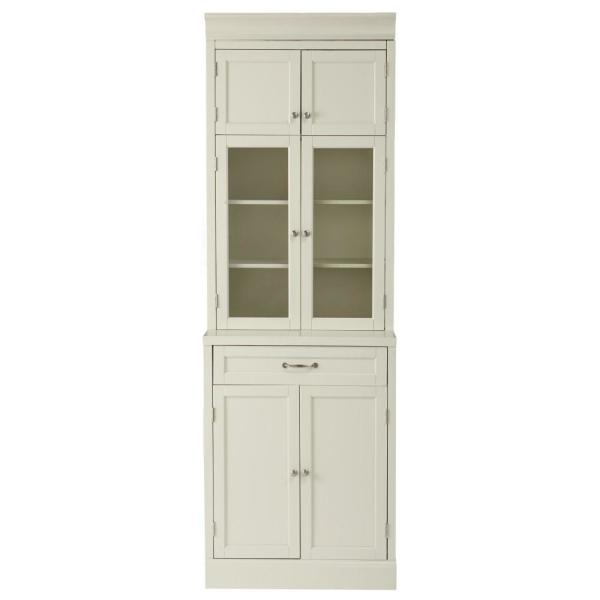 Prefab Kitchen Cabinets Home Depot: Home Decorators Collection Royce True White 1-Drawer