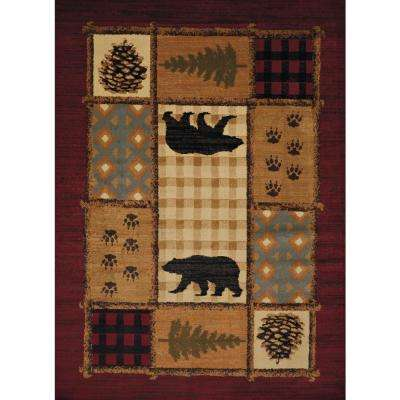 Affinity Lodge Mosaic Multi 7 ft. 10 in. x 10 ft. 6 in. Area Rug
