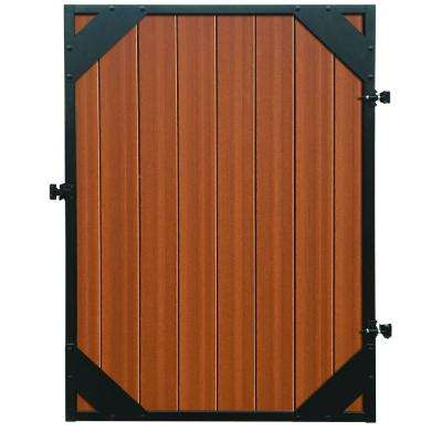 Mesa 4 ft. x 6 ft. Timber Brown/Black Composite/Steel Fence Gate with Hardware Included