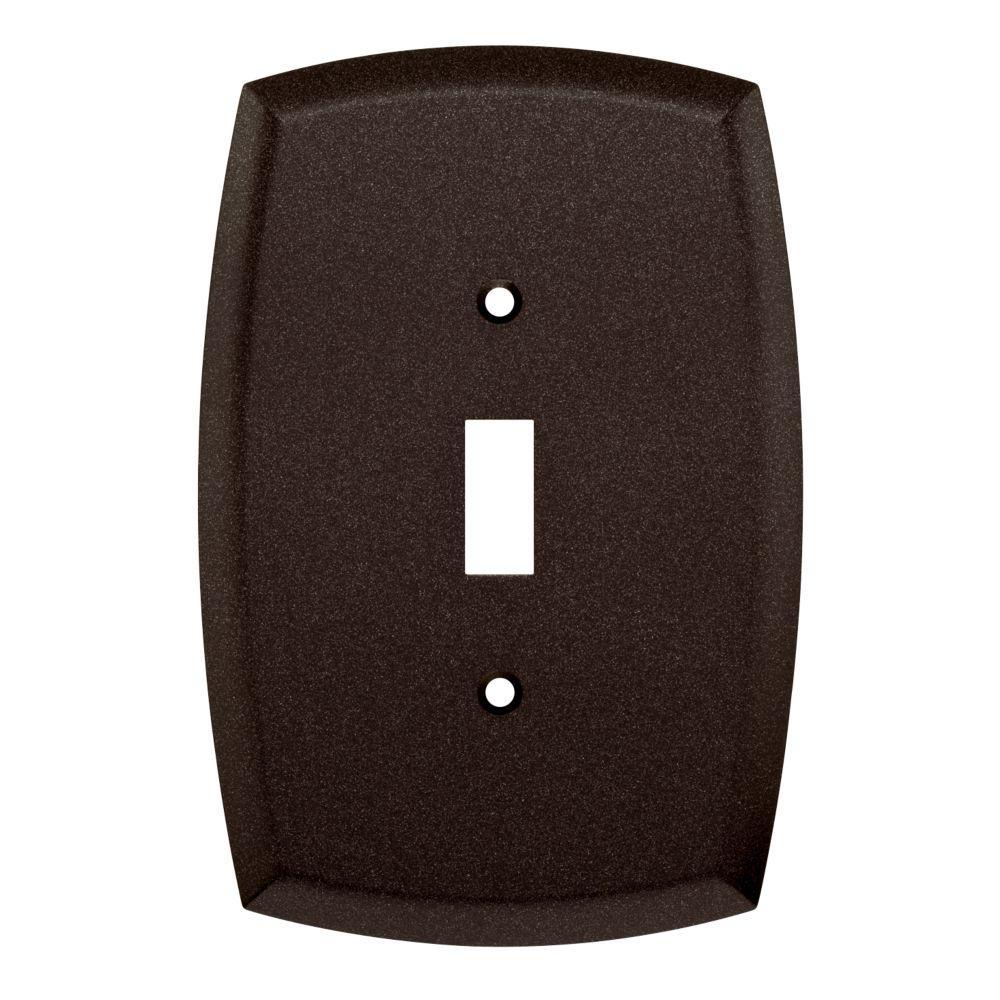 Mandara Decorative Single Switch Plate, Cocoa Bronze