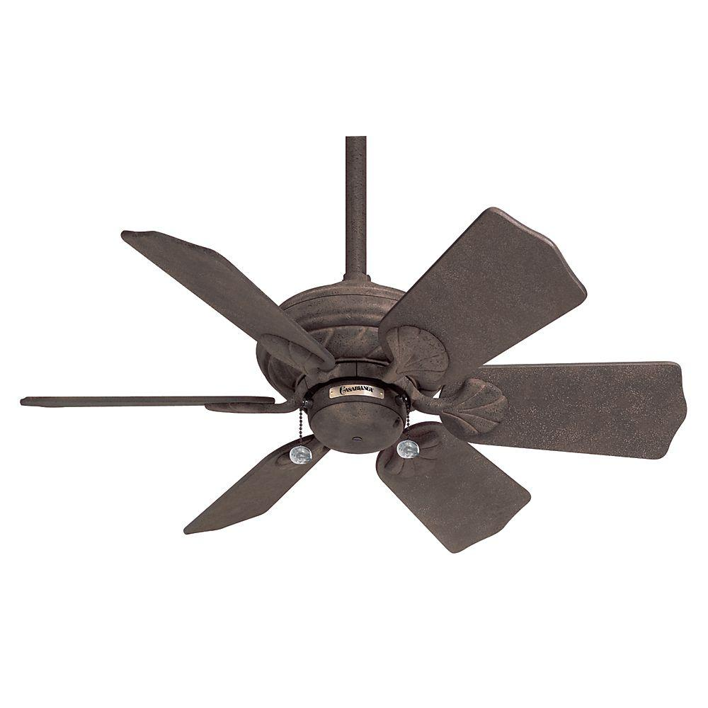 Casablanca Wailea 31 in. Rustic Iron Ceiling Fan-DISCONTINUED
