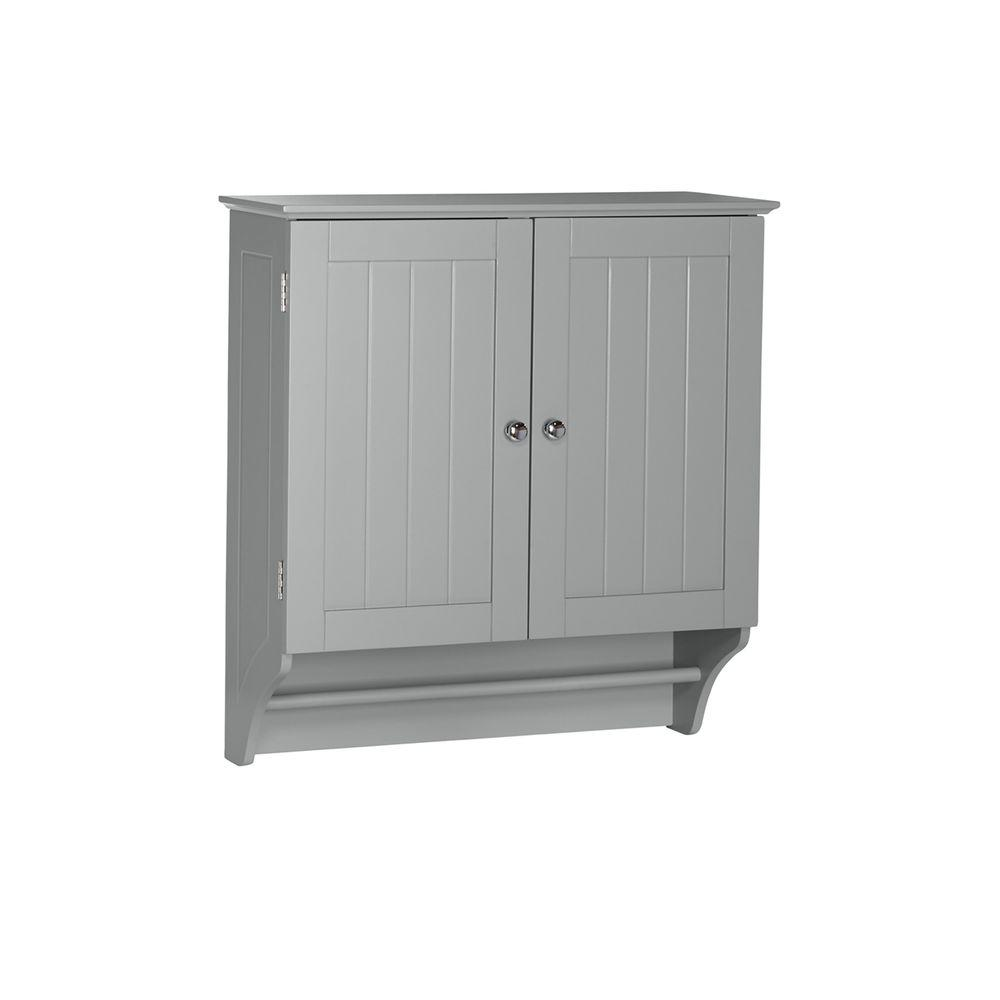 Riverridge home ashland 23 4 5 in w x 25 2 5 in h x 8 43 for Bathroom 2 door wall cabinet