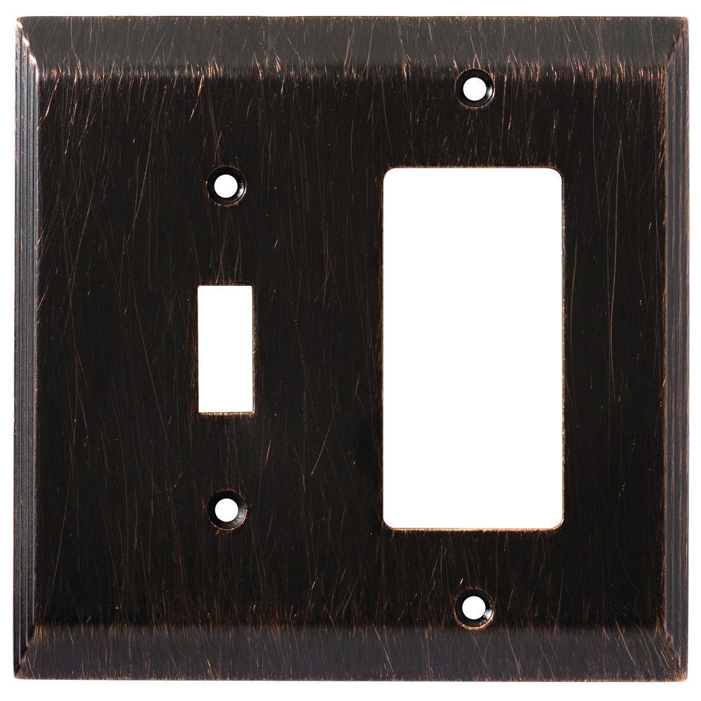 Liberty Stately Decorative Switch And Rocker Switch Plate, Venetian Bronze