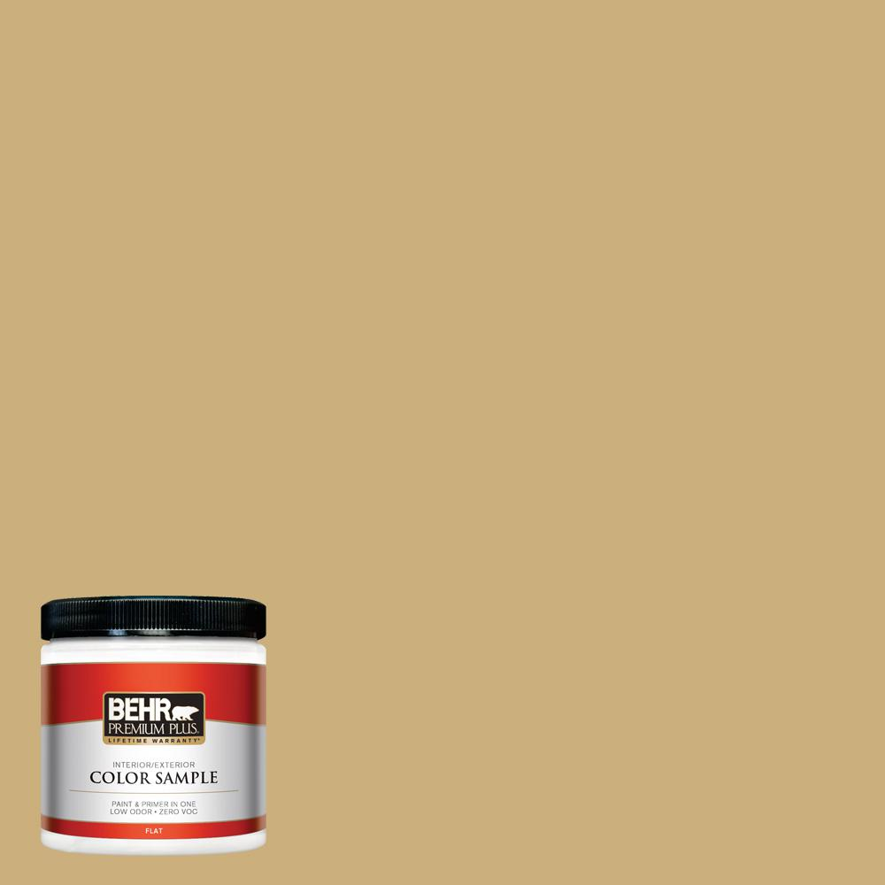 8 oz. #PPU6-16 Cup of Tea Flat Interior/Exterior Paint Sample