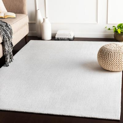 Kathryn White 8 ft. x 10 ft. Solid Area Rug